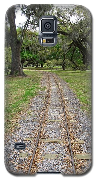 Galaxy S5 Case featuring the photograph On The Right Track by Beth Vincent