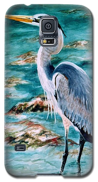 On The Rocks Great Blue Heron Galaxy S5 Case