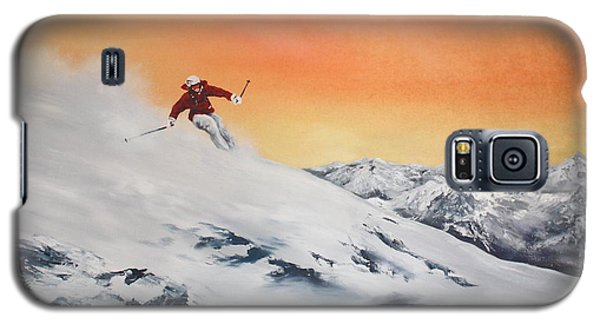 Galaxy S5 Case featuring the painting On The Slopes by Jean Walker