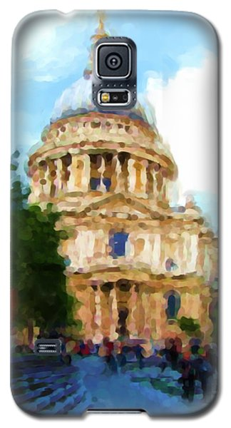 On The Steps Of Saint Pauls Galaxy S5 Case by Jenny Armitage