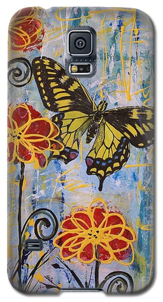 Galaxy S5 Case featuring the painting On The Wings Of A Dream by Jane Chesnut