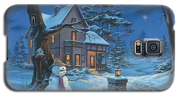 Galaxy S5 Case featuring the painting Once Upon A Winter's Night by Michael Humphries