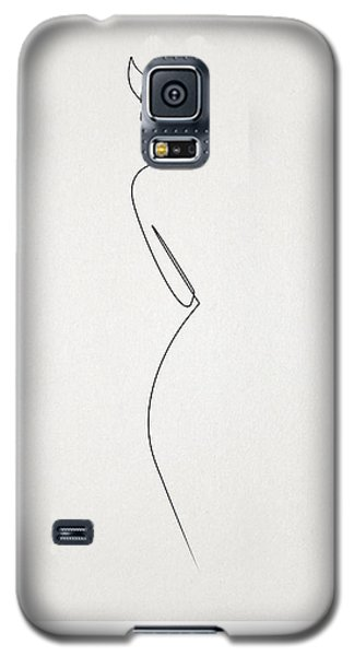 Abstract Galaxy S5 Case - One Line Nude by Quibe Sarl