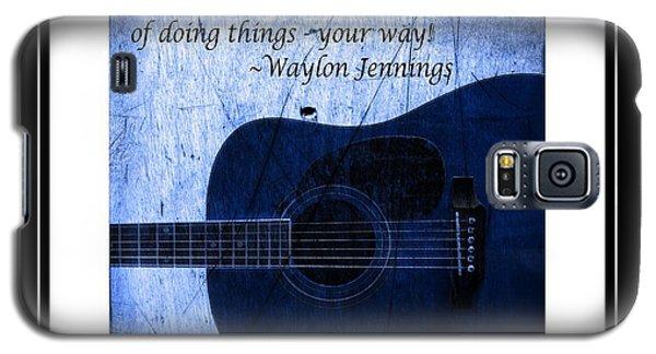One More Way - Waylon Jennings Galaxy S5 Case
