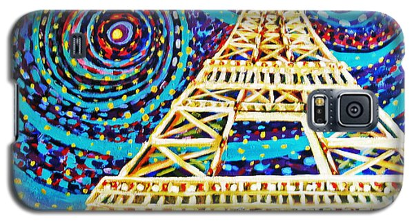 Galaxy S5 Case featuring the painting One Night In Paris by Cheryl Del Toro