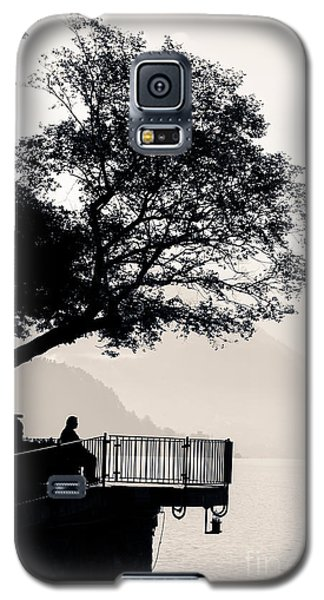 One Old Man Sitting In Shade Of Tree Overlooking Lake Como Galaxy S5 Case