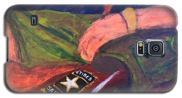 Galaxy S5 Case featuring the painting One Team Two Heroes - 2 by Donald J Ryker III