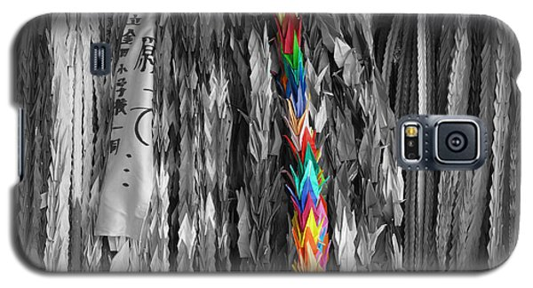 Galaxy S5 Case featuring the photograph One Thousand Paper Cranes by Cassandra Buckley