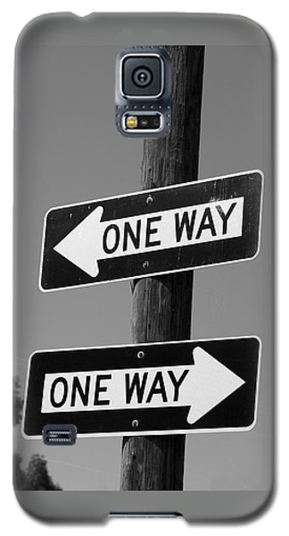 Galaxy S5 Case featuring the photograph One Way Or Another - Confusing Road Signs by Jane Eleanor Nicholas