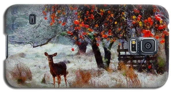 Galaxy S5 Case featuring the digital art One Winter Morning by Kai Saarto