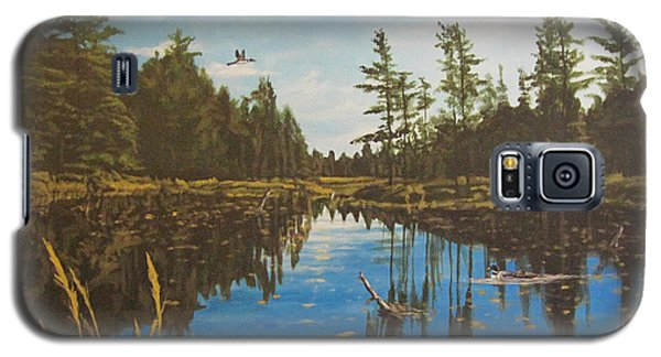 Galaxy S5 Case featuring the painting O'neal Lake by Wendy Shoults