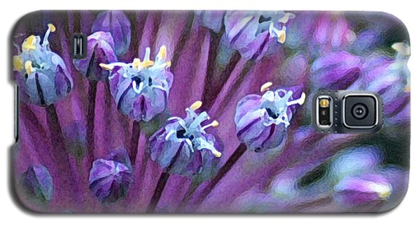 Galaxy S5 Case featuring the photograph Onion Bloom by Kjirsten Collier