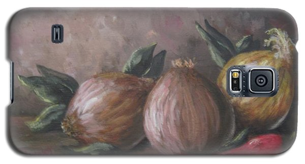 Galaxy S5 Case featuring the painting Onions And Peppers by Megan Walsh