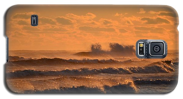 Galaxy S5 Case featuring the photograph Opal Beach Sunset Colors With Huge Waves by Jeff at JSJ Photography