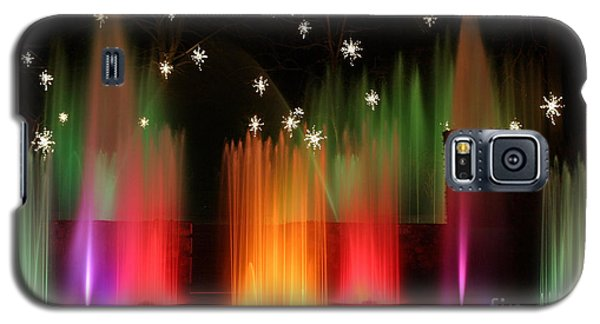 Open Air Theatre Rainbow Fountain Galaxy S5 Case by Living Color Photography Lorraine Lynch