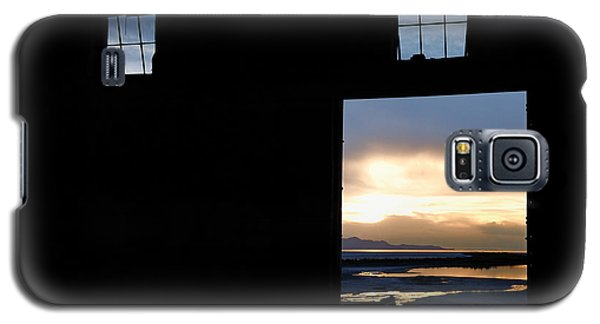Open Door Sunset - A Great Salt Lake Sunset Galaxy S5 Case by Steven Milner