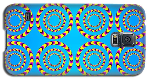 Optical Illusion Spinning Wheels Galaxy S5 Case