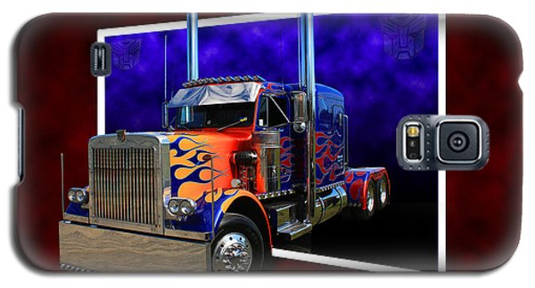 Galaxy S5 Case featuring the photograph Optimus Prime Peterbilt by Keith Hawley