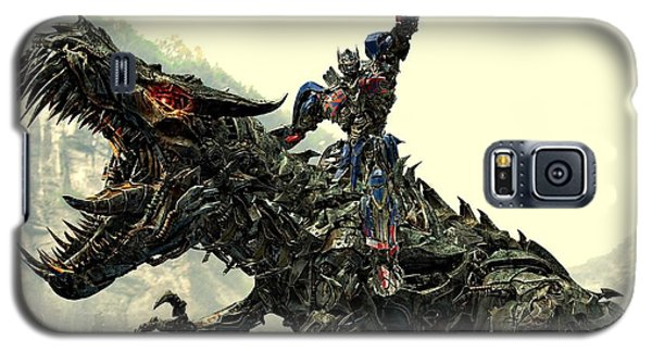 Optimus Prime Riding Grimlock Galaxy S5 Case