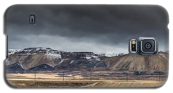Oquirrh Mountains Winter Storm Panorama 2 - Utah Galaxy S5 Case