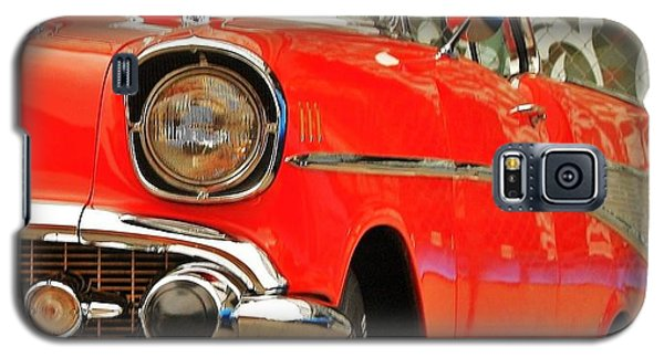 Galaxy S5 Case featuring the photograph Orange 57' Chevy by Al Fritz