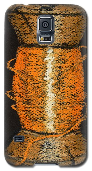 Galaxy S5 Case featuring the drawing Orange 6 by Joseph Hawkins
