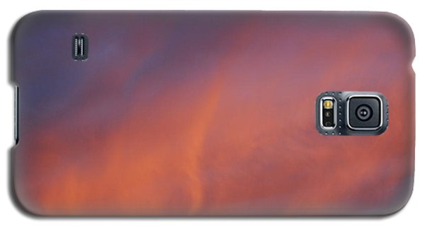 Galaxy S5 Case featuring the photograph Orange And Blue Sunset by Ramona Whiteaker