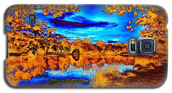 Orange And Blue Galaxy S5 Case