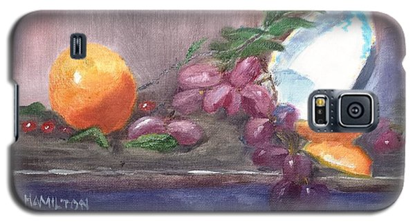 Orange And Grapes Still Life Galaxy S5 Case
