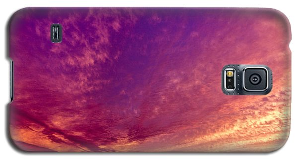 Orange And Purple Clouds Sunset View From The Balcony Galaxy S5 Case