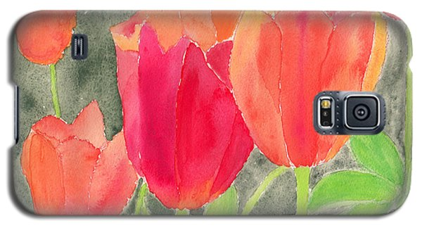 Orange And Red Tulips Galaxy S5 Case