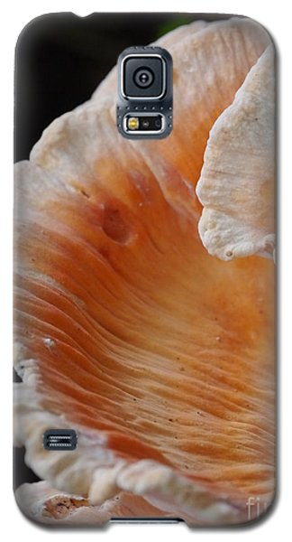 Orange And White Fungi Galaxy S5 Case by Jane Ford