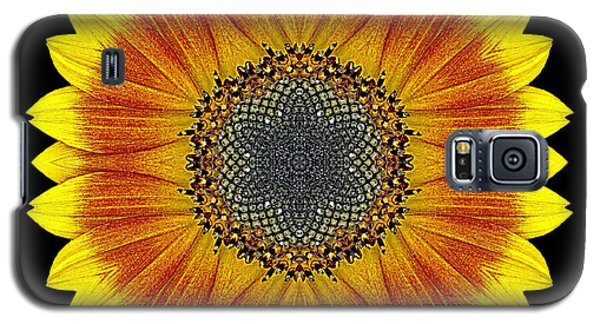 Orange And Yellow Sunflower Flower Mandala Galaxy S5 Case