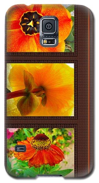 Orange Bloom Motif Galaxy S5 Case by Kae Cheatham