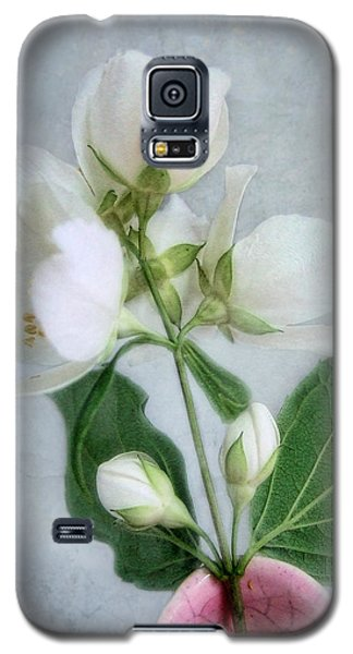 Orange Blossom Time Galaxy S5 Case by Louise Kumpf