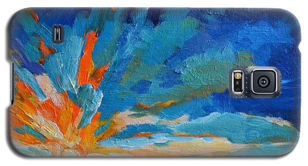 Orange Blue Sunset Landscape Galaxy S5 Case