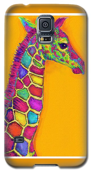 Orange Carosel Giraffe Galaxy S5 Case by Jane Schnetlage