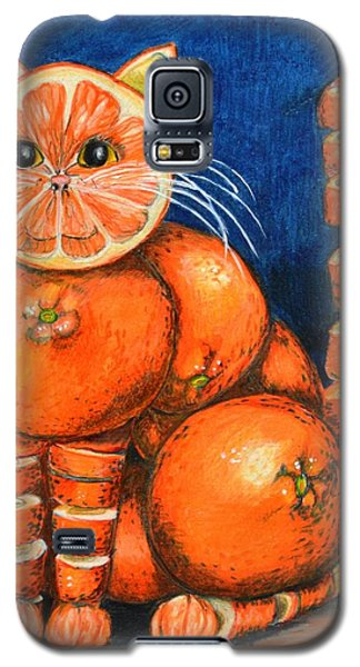 Orange Cat Galaxy S5 Case