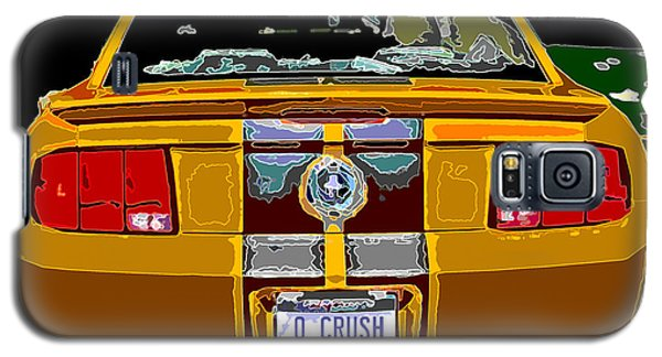 Galaxy S5 Case featuring the photograph Orange Crush Mustang Rear View by Samuel Sheats