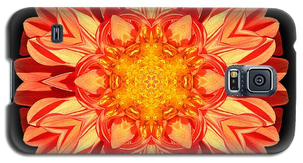 Orange Dahlia Flower Mandala Galaxy S5 Case