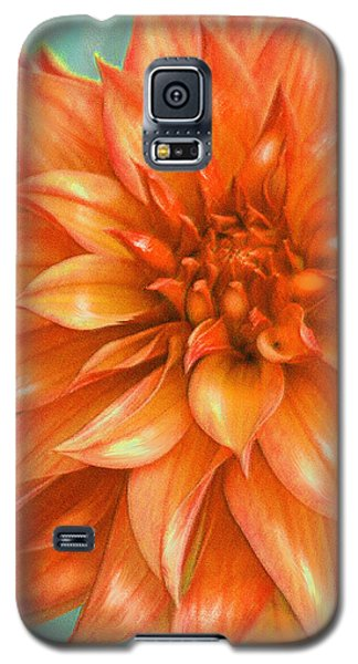 Orange Dahlia Galaxy S5 Case by Jane Schnetlage