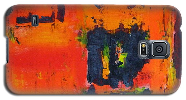 Galaxy S5 Case featuring the painting Orange Day by Everette McMahan jr