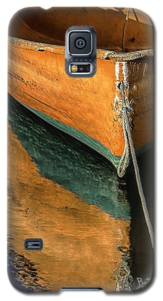 Galaxy S5 Case featuring the photograph Orange Dinghy In Warm Sun by Betty Denise