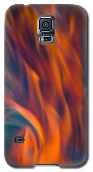 Orange Fire Galaxy S5 Case