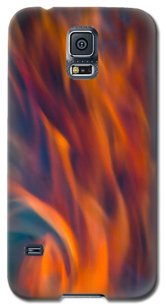 Orange Fire Galaxy S5 Case