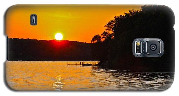 Orange Fire33 Galaxy S5 Case by Susan Crossman Buscho