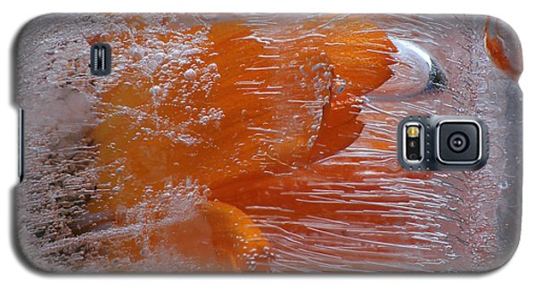 Orange Flower Galaxy S5 Case