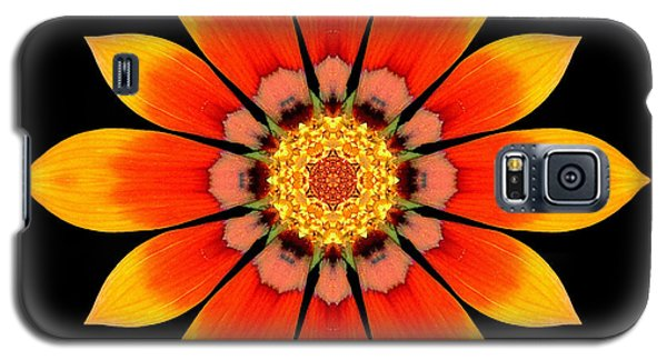 Orange Gazania I Flower Mandala Galaxy S5 Case