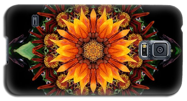 Orange Gazania IIi Flower Mandala Galaxy S5 Case