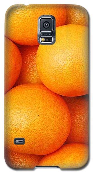 Orange Geometry Galaxy S5 Case